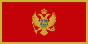 montenegro, zastava
