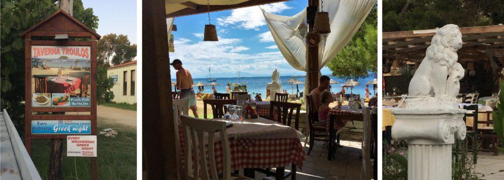 troulos, taverna, plaža