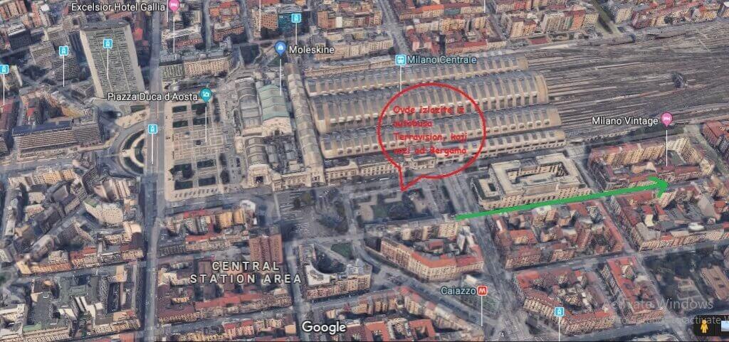 mapa, milano, vintage