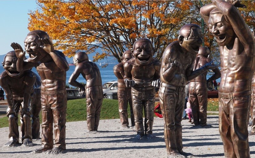 laughing statues in vancouver canada