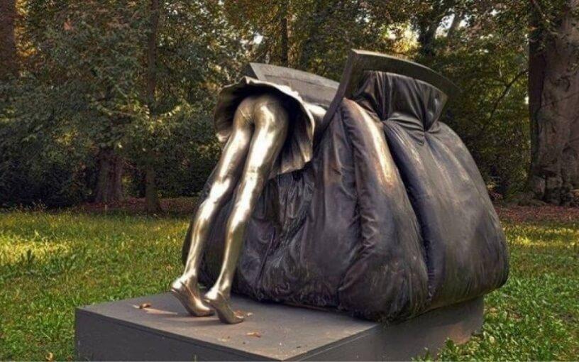 woman's handbag interesting sculpture