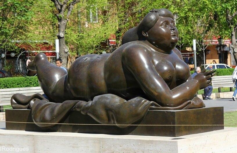 fat lady sun bathing in yerevan armenia