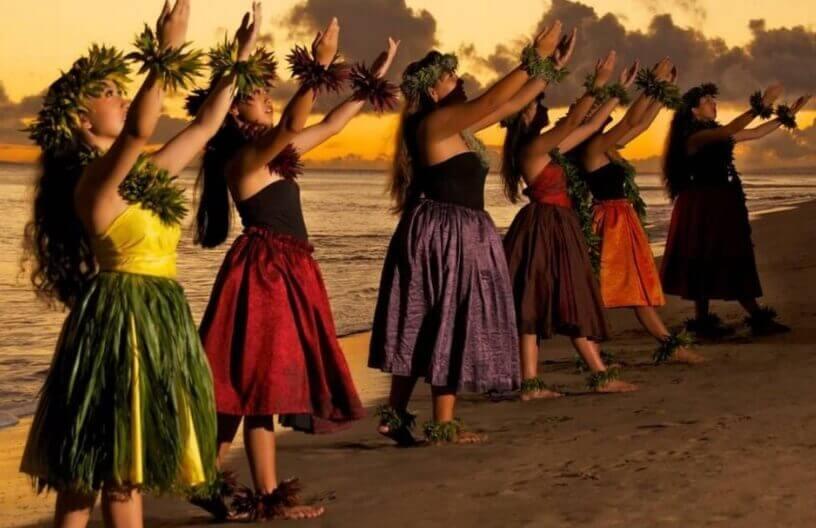 havajski tradicionalni Hula nastup