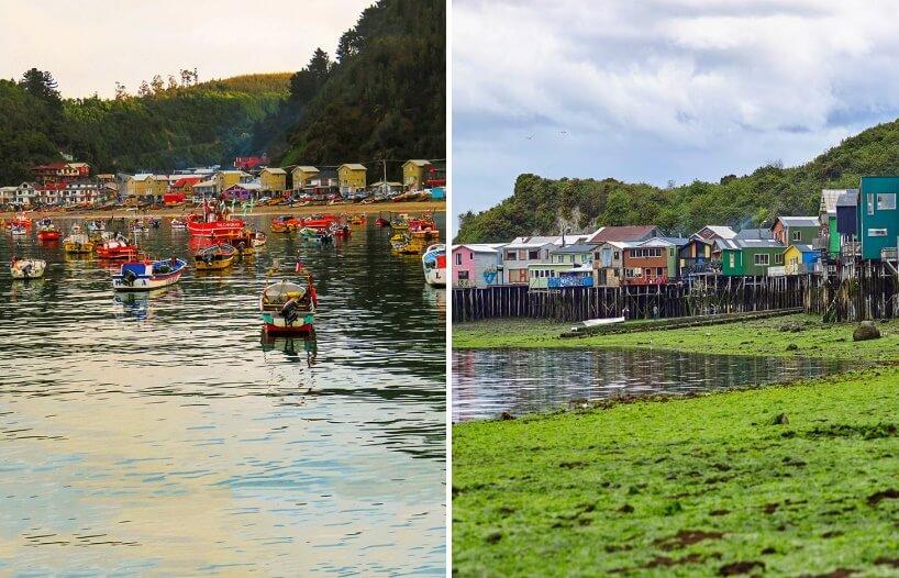Živopisno naselje na obalama čileanskog jezera