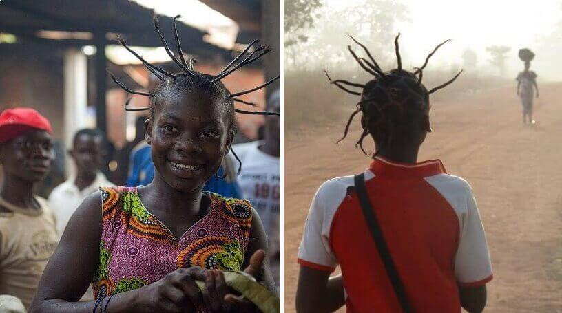 Frizura afričke devojčice