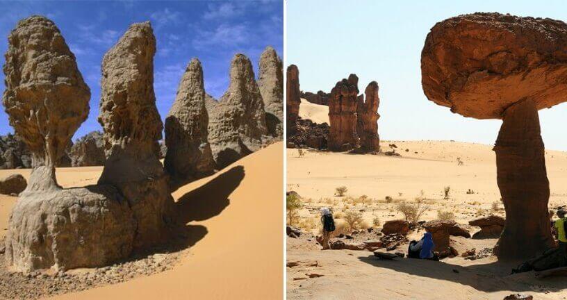 Neobične stenovite formacije u pustinji