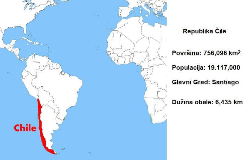 Geografska pozicija države Čile