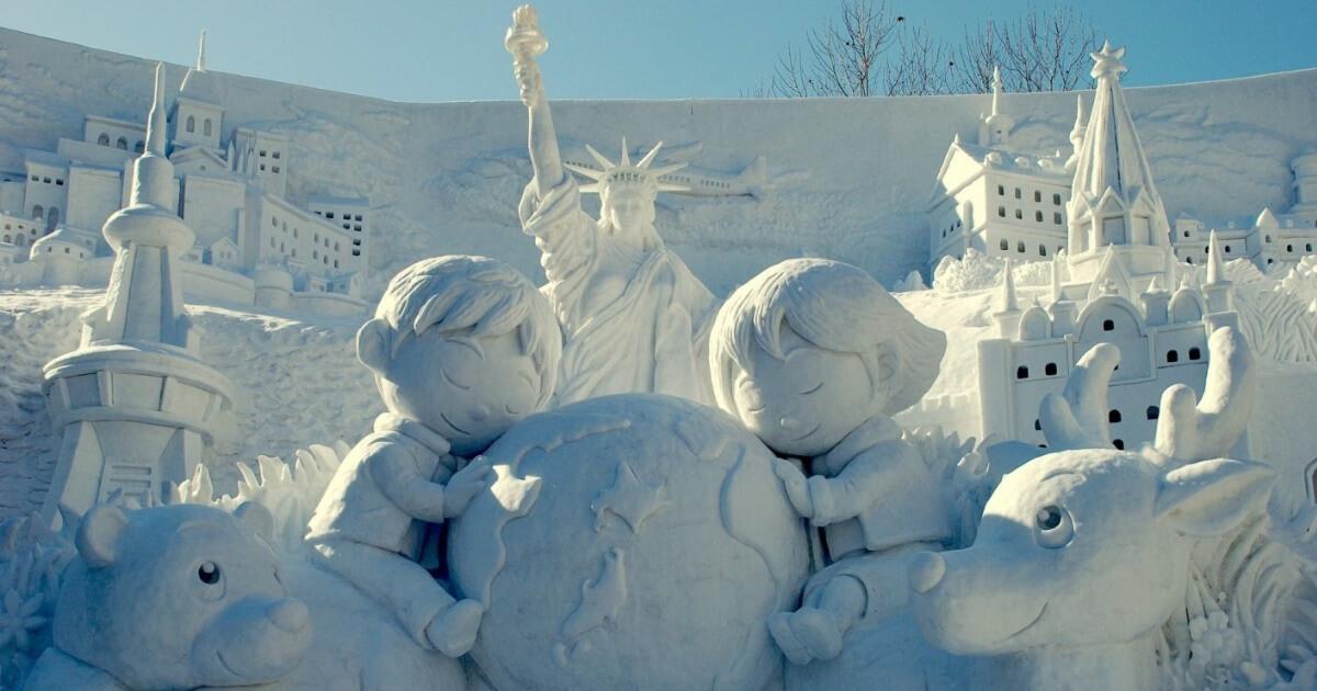 Izložba džinovskih skulptura od snega u Japanu